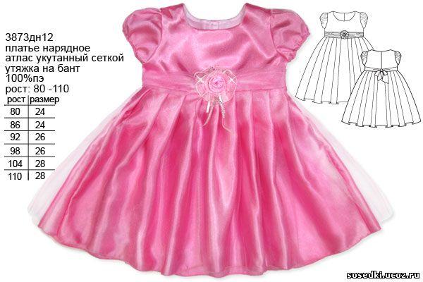 Сшить нарядное платье для девочки 1 год